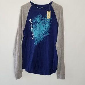 NEW CHIP & PEPPER Blue Long Sleeve Shirt Large